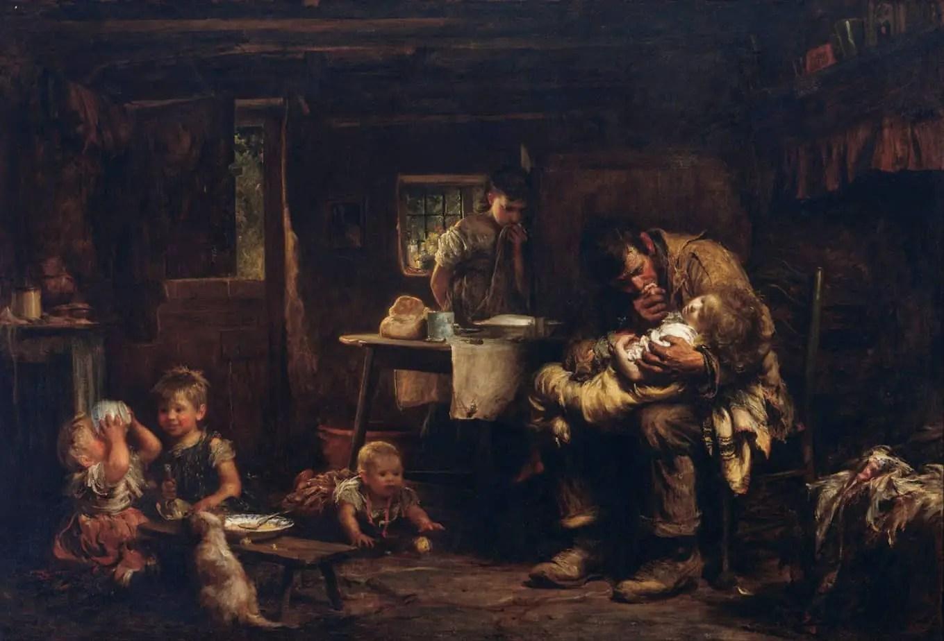 Sir Luke Fildes - The Widower 1875-76