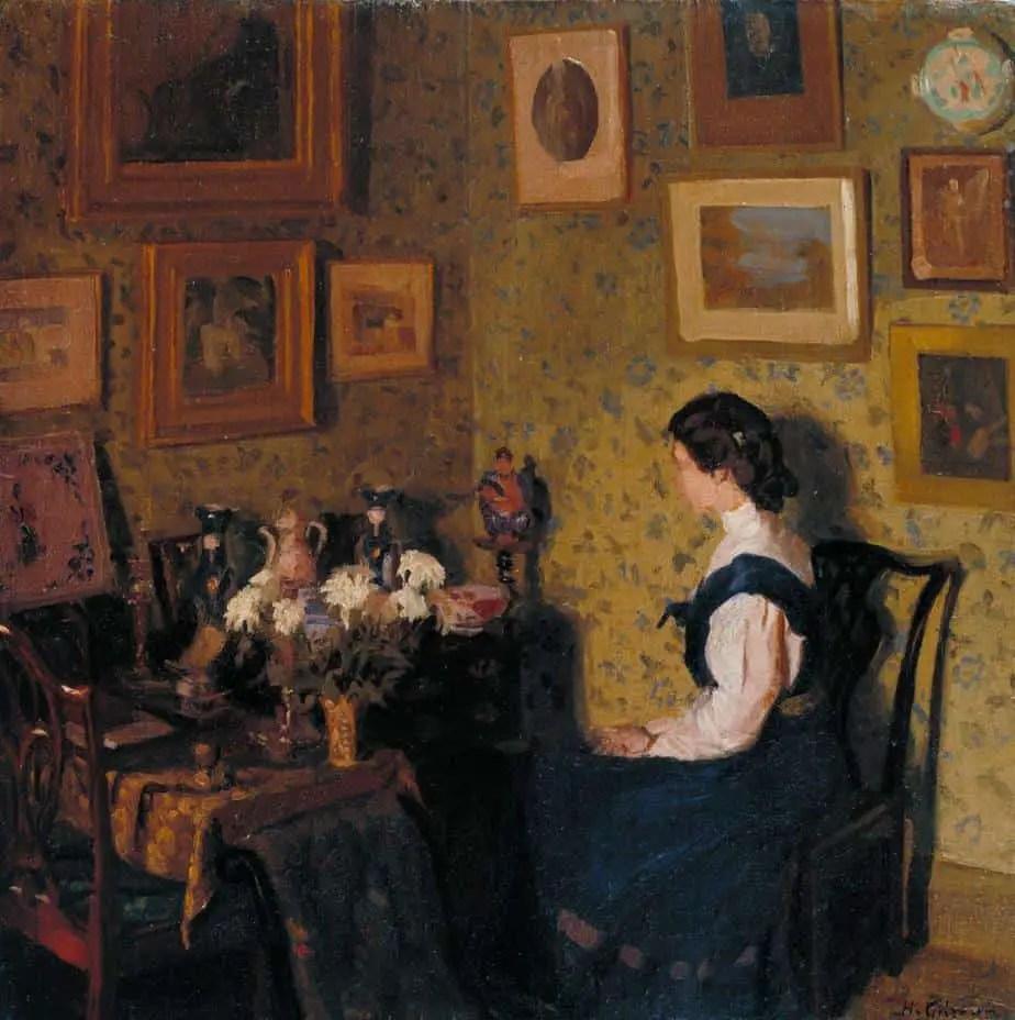 Edwardian Interior c.1907 by Harold Gilman 1876-1919