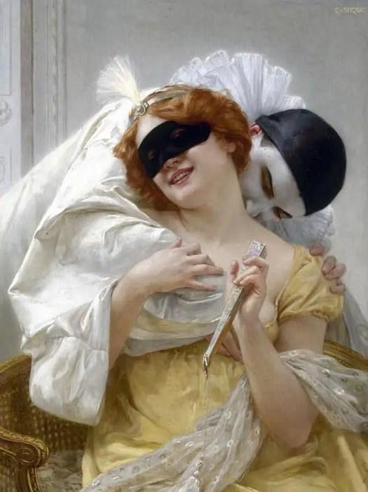 Guillaume Seignac - Pierrot's Embrace 1900