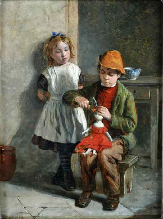 William Hemsley - The Young Doll Makers