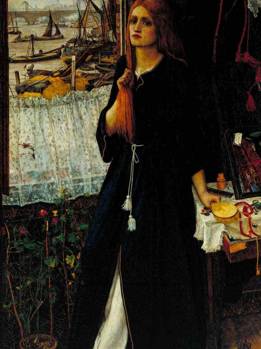 Thoughts of the Past exhibited 1859 John Roddam Spencer Stanhope 1829-1908