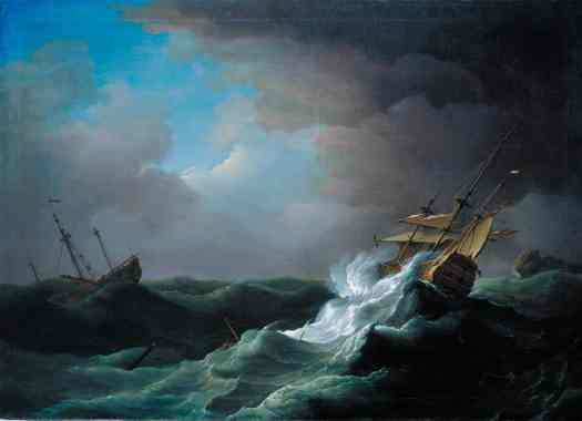 Ships in Distress in a Storm c.1720-30 Peter Monamy 1681-1749