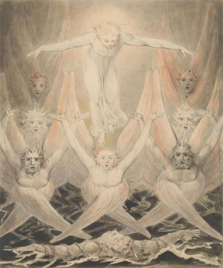 David Delivered out of Many Waters c.1805 William Blake 1757-1827