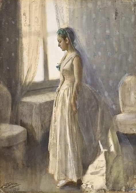 Anders Zorn, (Swedish ,1860 - 1920) The Bride, 1886