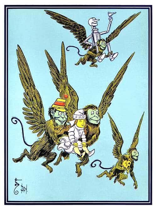 Flying monkeys By W. W. Denslow (1856-1915)--Ill. f. 'The Wonderful Wizard of Oz,' L. Frank Baum (1900)