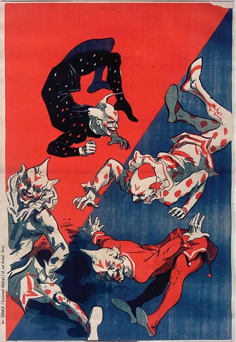 'Hippodrome' (4 Clowns) - Poster by Jules Chèret, 1882