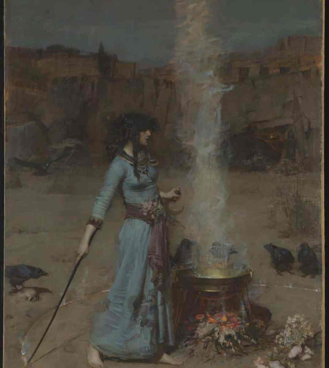 The Magic Circle 1886 by John William Waterhouse 1849-1917