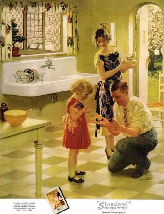 Norman Mills Price American 1877-1951 advertisement for plumbing fixtures