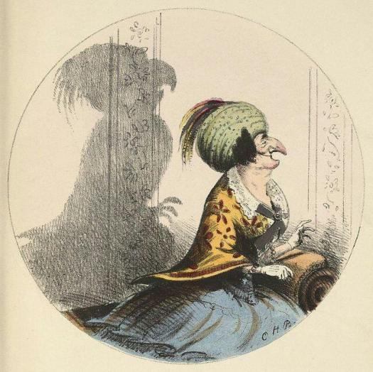 'Shadows' 1850 Charles Bennett (1829-67) parrot shadow