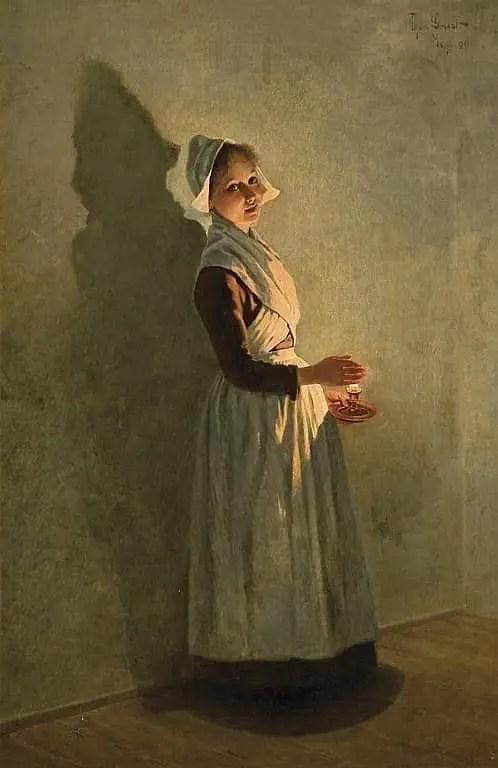 Theodor Grust, (German, 1859 - 1919) Candlelight