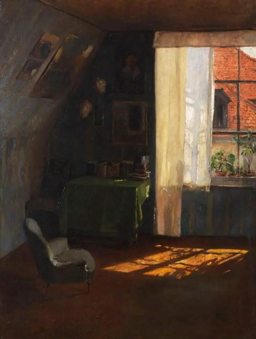 Wilhelm Roegge (German, 1829 - 1908) In Atelier, 1900-10