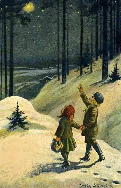 'A Magical Night' 1921 Jenny Nystrom (1854 - 1946) Swedish illustrator