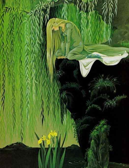 "1977 illustration of ""The Frog Prince"" by twin sisters Anne & Janet Grahame Johnstone (illustrated first publication of ""101 Dalmatians"" by Dodie Smith, 1956.)"