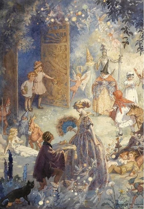 """The Gates of FairyLand"" (1922) by Margaret W. Tarrant (1888-1959)"