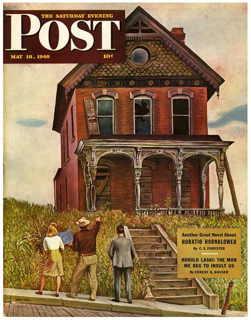 A Fixer Upper 1946 illustration by John Falter. This house looks like the old house visited by the children of IT.