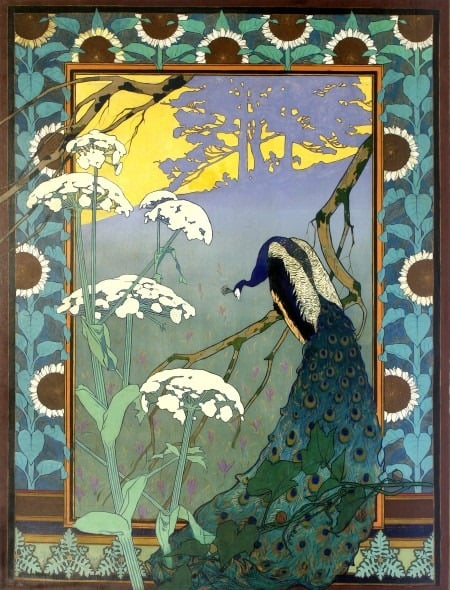 Camille Martin, Le Soir ou le Paon - The Evening or The Peacock - Nancy 1896