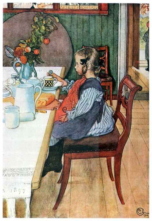 These hair styles haven't come back into fashion, but were once popular. The girl above is a watercolour illustration by Carl Larsson, 1900.