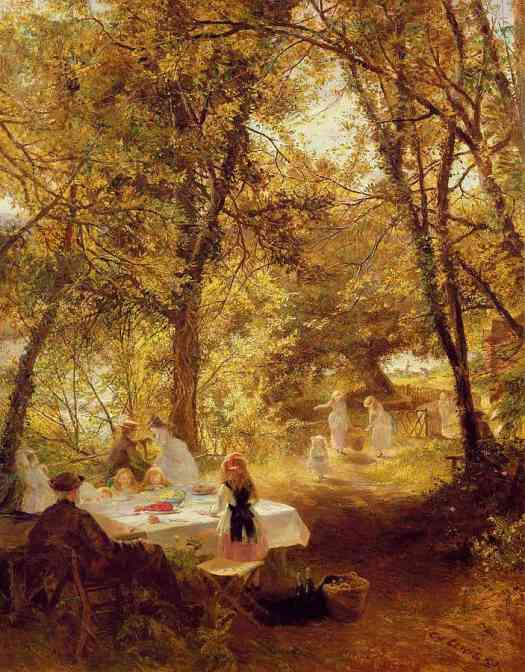Charles James Lewis, 1830-1892 British  The Picnic