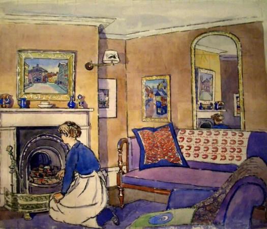 Interior with Maid c.1913 Douglas Fox Pitt 1864-1922