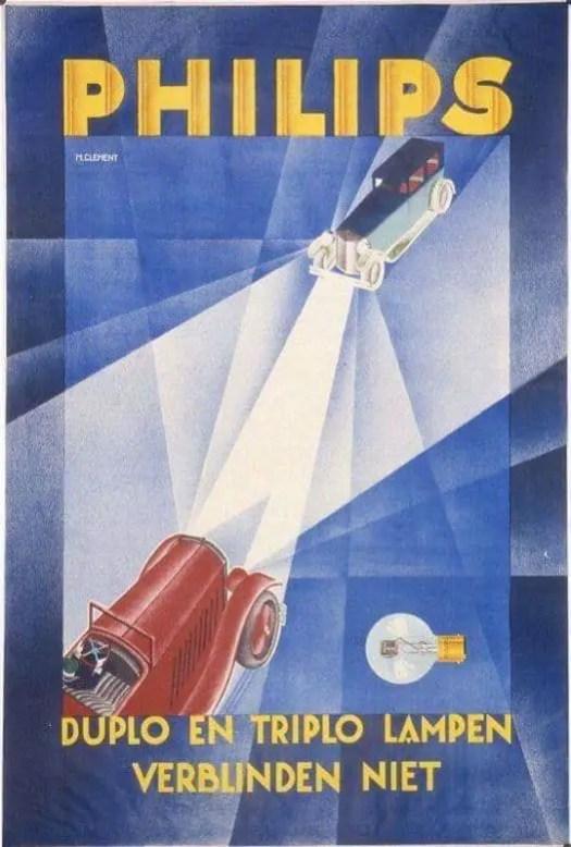 Dutch advertisement for Phillips headlamps