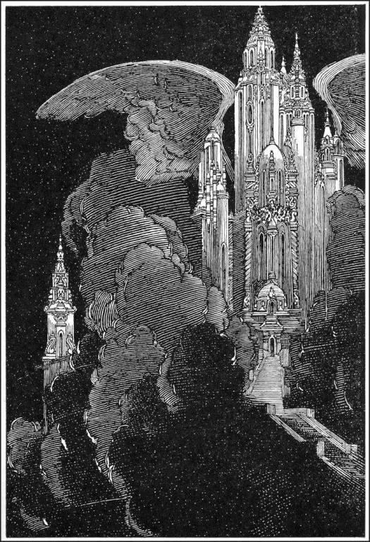 Franklin Booth (1874-1948) winged castle