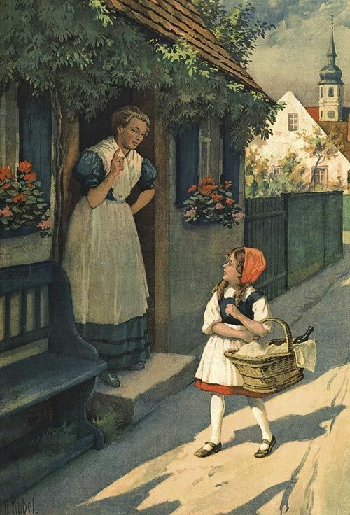 Red Riding Hood O. Kubel Rotkappchen, 1910