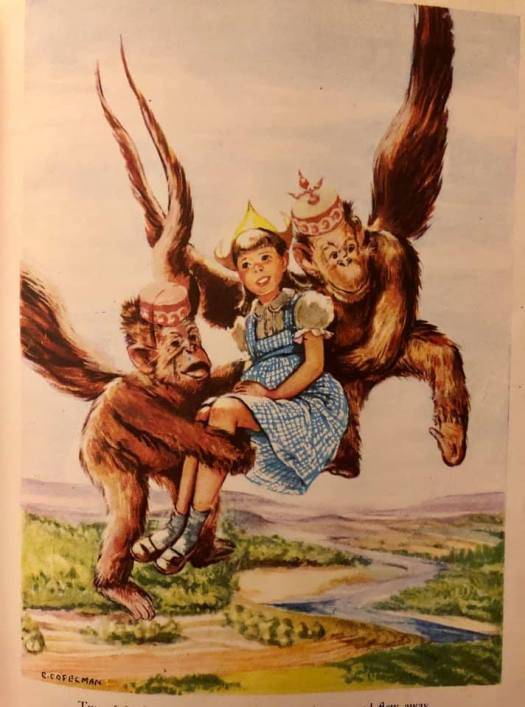 The Wizard Of Oz- 1944 flying monkeys, illustration by Evelyn Copelman