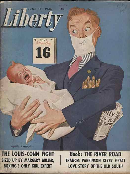 Art by Dal Holcomb, new father, 1946
