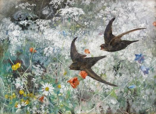 Bruno Liljefors, Common Swifts, 1886