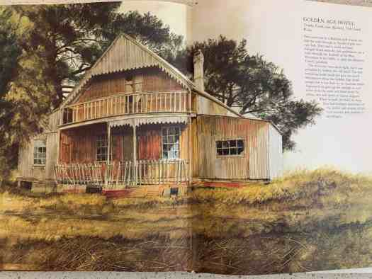 Golden Age Hotel, Trunkey Creek, NSW, Australia. By Robert Ingpen (b1936) from Marking Time, published 1979