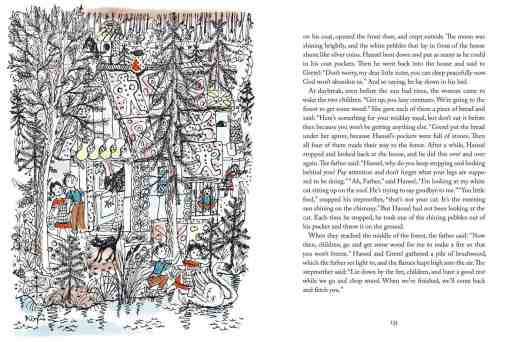 Hansel and Gretel illustration by Hans Fischer, whose illustration style can make a dark tale less scary.