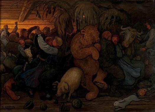 Haugtussedans, 1903, Theodor Kittelsen