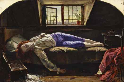 Henry Wallis - The Death of Chatterton 1856