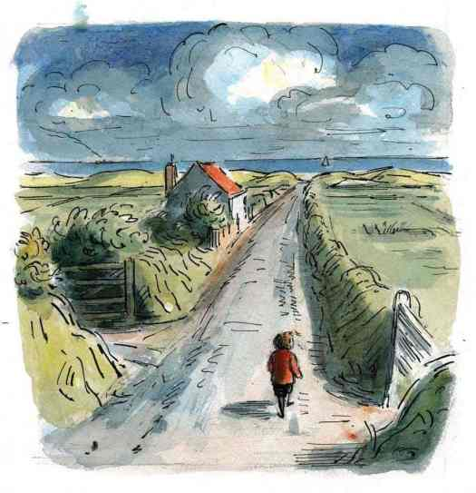 "Illustration from ""Peter the Wanderer"". Edward Ardizzone. 1963"