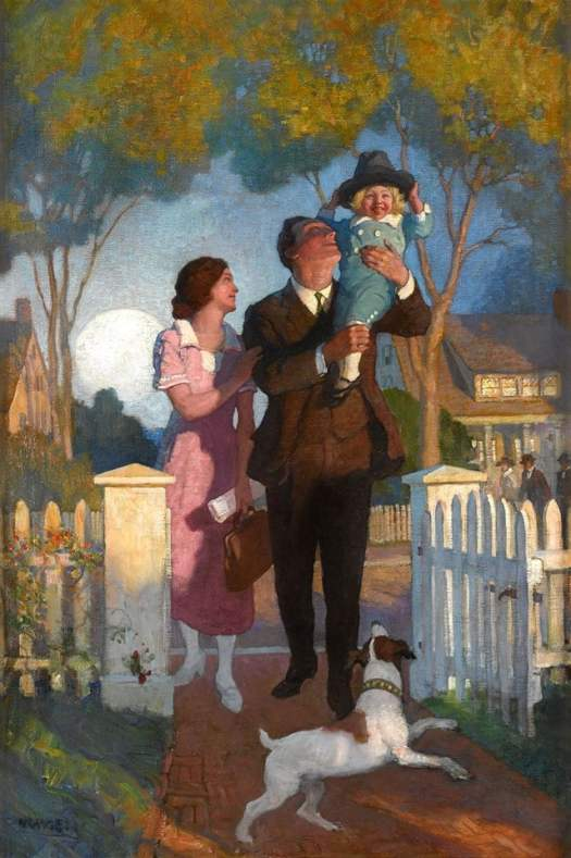 N.C. Wyeth (American, 1882-1945), After The Day's Work, 1923