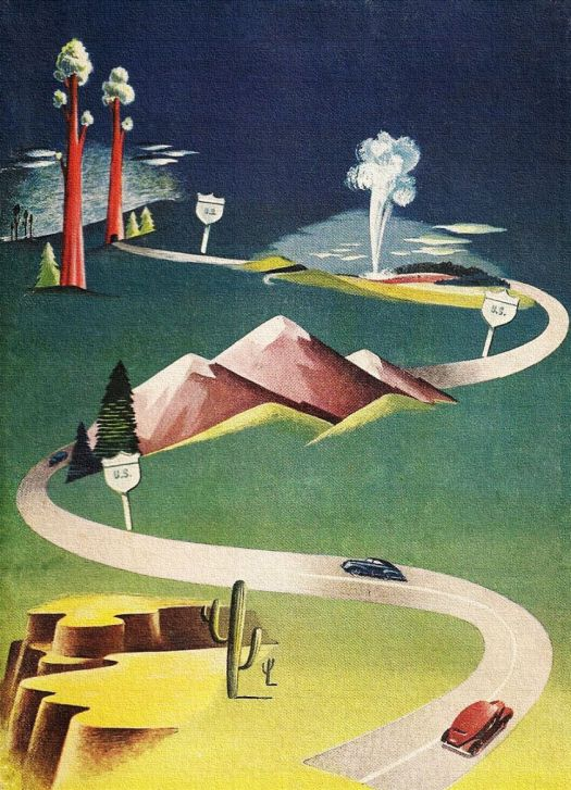 National Parks - detail from cover of 1958 AAA Travel brochure