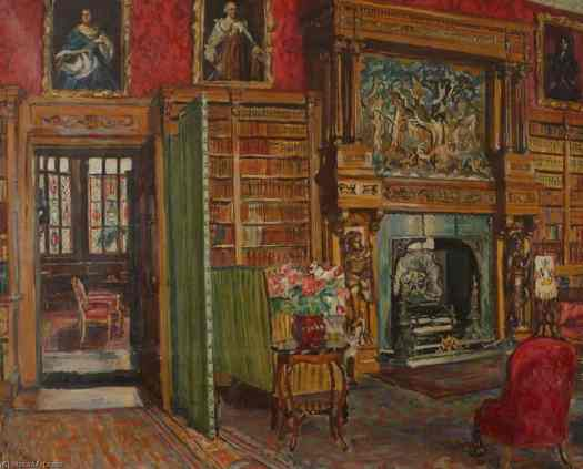'The Library' by Marie-Louise Roosevelt Pierrepont, 1941