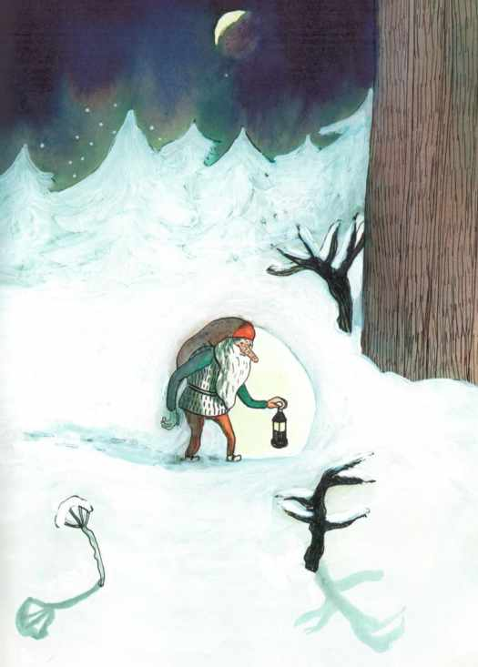 The Tomten by Astrid Lindgren and Kitty Crowther