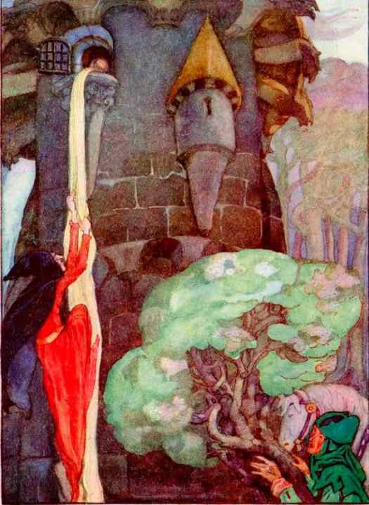 Rapunzel, Let Down Your Hair by Anne Anderson (Scottish)