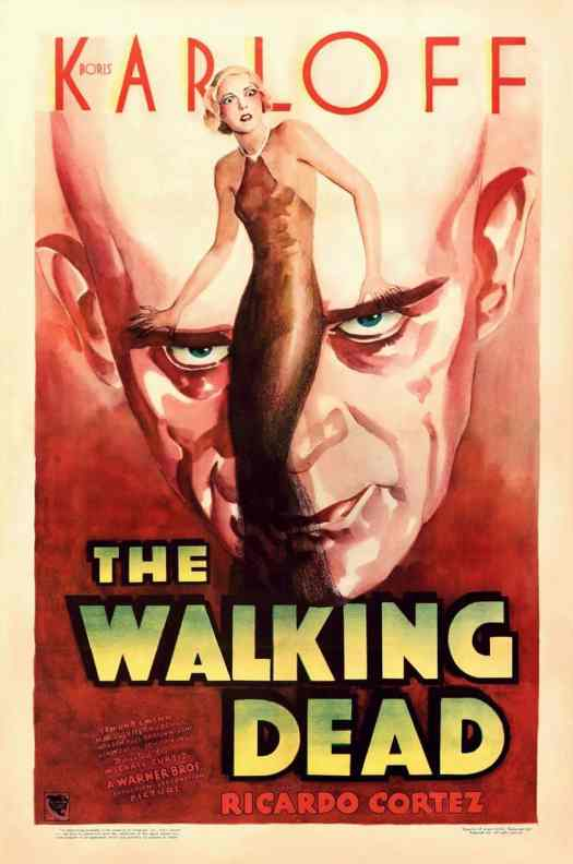 Artist unknown, The Walking Dead (Warner Bros., 1936), One Sheet Movie Poster sanpuku eyes