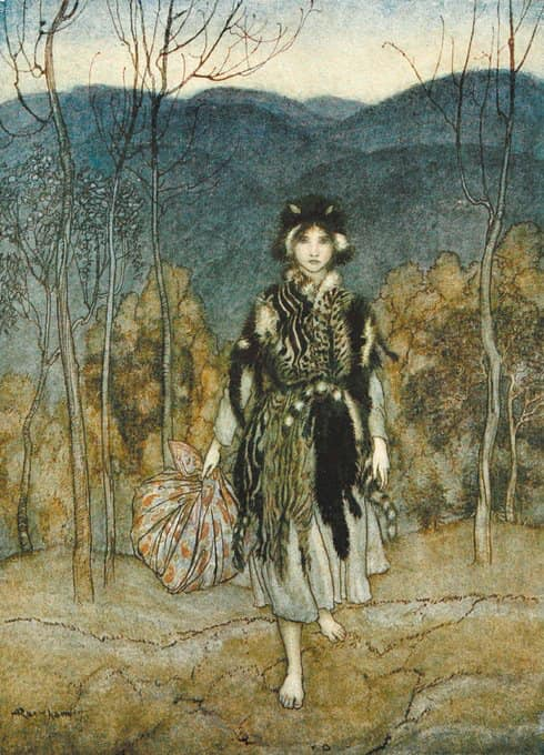 Catskin, Arthur Rackham, 1922