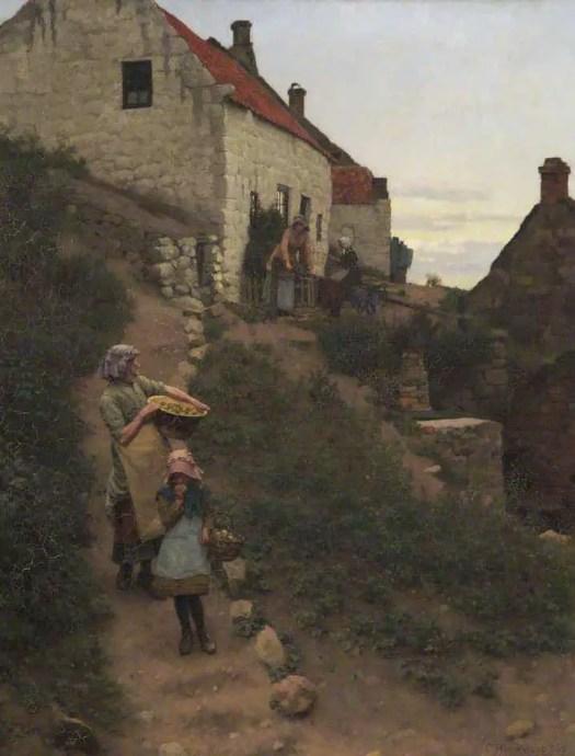Charles Haigh Wood - Fisherman's Cottage, Runswick 1886