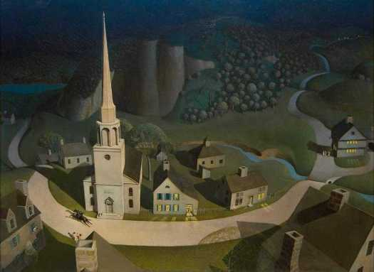 Grant Wood, American, The Midnight Ride of Paul Revere (1931)