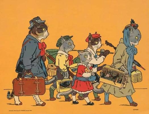 Les Minets en vacances, de Marie de Grandmaison, illustrés par Jean Matet, 1920