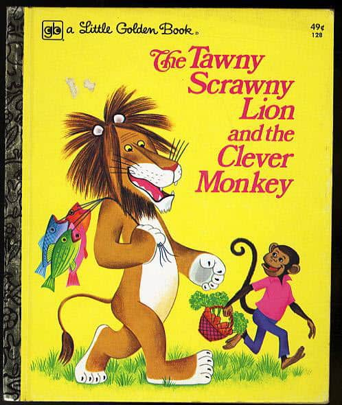 The Tawny Scrawny Lion and the Clever Monkey