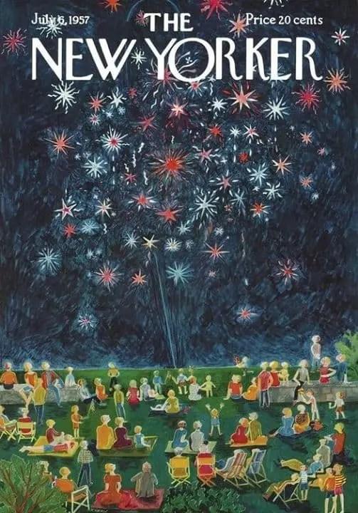by Ilonka Karasz (1896-1981) 1957 Fourth of July fireworks