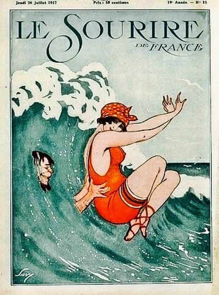 1917 creepy dude with swimmer