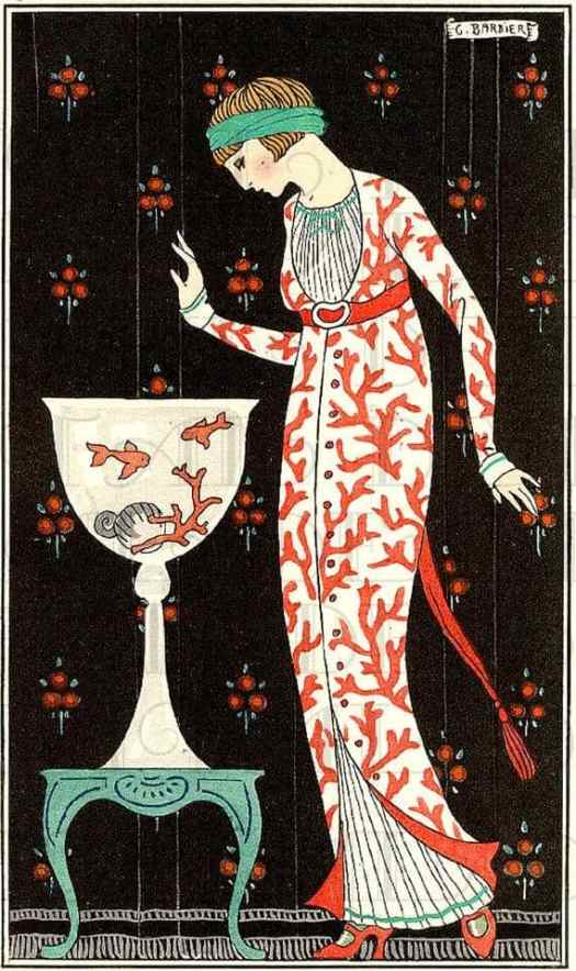 French fashion illustrations c.1920s George Barbier