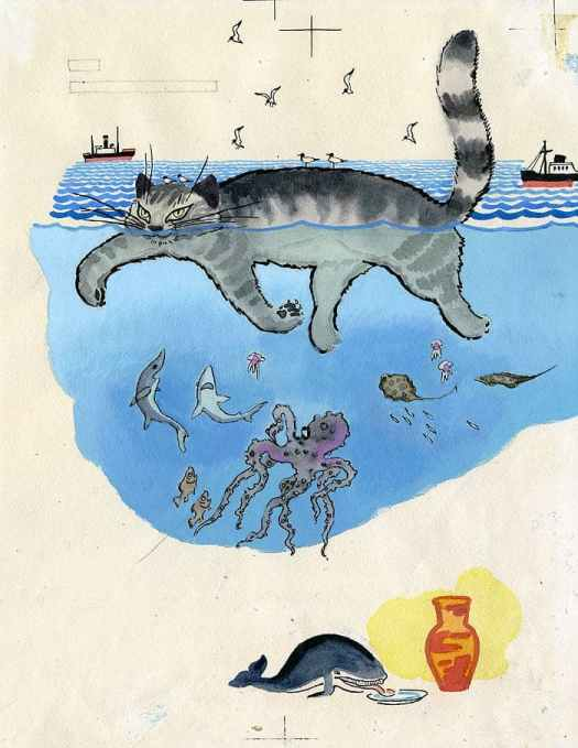 The Whale and the Cat (Boris Zakhoder), illustrations by Yevgeny Meshkov (orig.-1964) whale and cat trade places