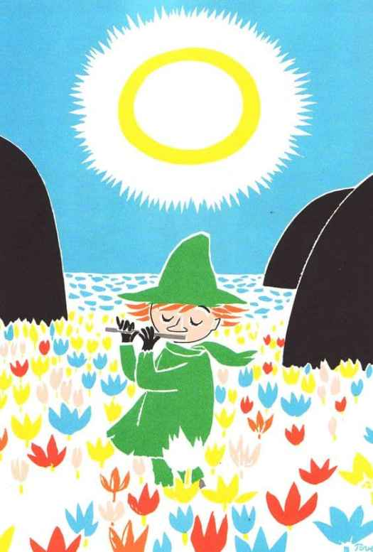Tove Jansson playing flute